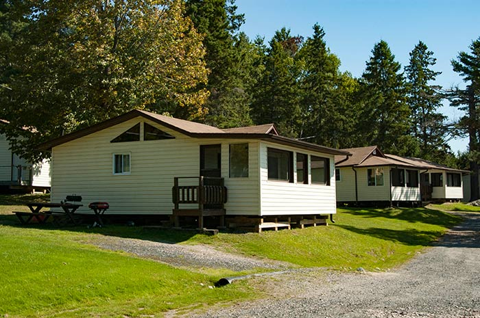 Cottage 7  - Two Bedrooms - Sleeps 4 people - Moonlight Bay Cottages, Alban, Ontario - The heart of the historic French River